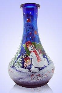 Колба синяя № 1 1,7л. h270 мм. рис. Снеговик № 2