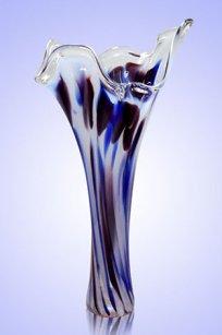 Ваза стеклокрошка Волна h280 мм. Б.С.М.