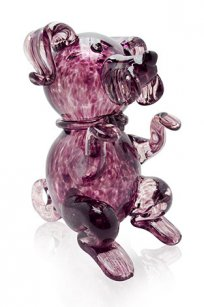 сувенир стеклокрошка Собака h150 мм. Марг.