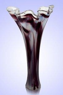 Ваза стеклокрошка Волна h400 мм. Б.М.