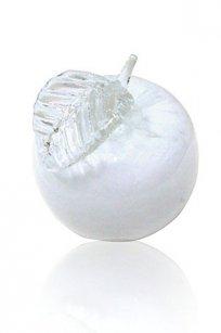 Сувенир стеклокрошка Яблоко h90 мм. Бел.