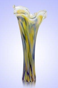 Ваза стеклокрошка Волна h280 мм. С.Ж.