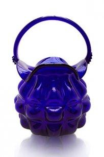 сувенир Корзинка № 8 h220 мм. из синего стекла
