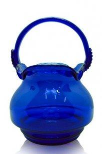Сувенир синее стекло Корзинка № 2 h220 мм