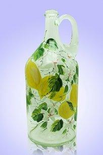 Бутыль прозрачная 2л. руч. d120.h300 мм. рис. Лимон