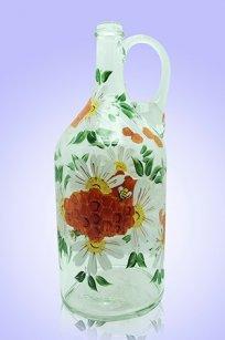 Бутыль прозрачная 2л. руч. d120.h300 мм. рис. Пчёлки