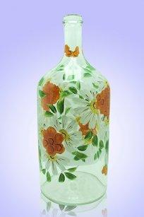 Бутыль прозрачная 2л. d120.h300 мм. рис. Пчёлки