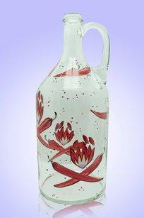 Бутыль прозрачная 2л. руч. d120.h300 мм. рис. Перец