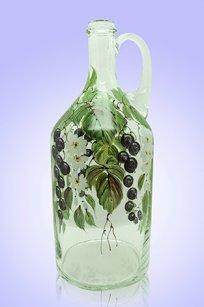 Бутыль прозрачная 2л. руч. d120.h300 мм. рис. Смородина (Ч.)