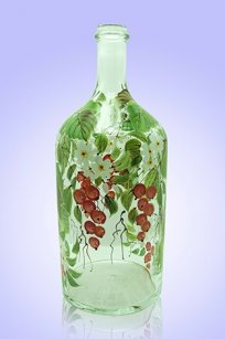 Бутыль прозрачная 2л. d120.h300 мм. рис. Смородина (Кр.)