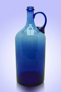 Бутыль синяя 2л. руч. d120.h300 мм.